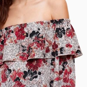 Aritzia Wilfred Off the Shoulder Floral Blouse